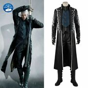 Game Devil May Cry 5 Vergil Dante Nero Cosplay Costume Boots Halloween Outfits