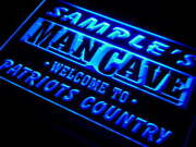 Custom Man Cave Led Sign Patriots Country Peronalized Lights