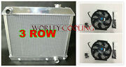 3row Aluminum Radiator And Fans For 1963-1966 Chevy Truck C10 C20 C30 63 64 65 66