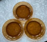Vintage Lot 3 Fire King Oven Proof 9 Pie Plate Anchor Hocking Usa Amber Brown