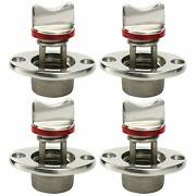4 Pack Oval Garboard Drain Plug Stainless 316 Boat Fit 1and039and039 Hole Thread For 3/4and039and039