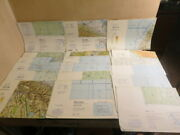 Aeronautical Defense Mapping Military 20 Charts Onc Tpc 1980s Middle East Europe