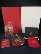 Waterford Crystal Nativity Holy Family Pewter Crystal Dome 140890 New In Box