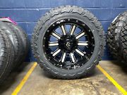 20x10 Fuel Hardline 33 Mt Wheels Rims Tires Package 8x170 Ford Excursion