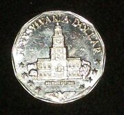 1982 Pam Papel Mint Coin Token Pennsylvania Pa Independence Hall State Seal 1887