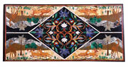 Marble Dining Table Kitchen Inlaid Garden Decoration Home Decor