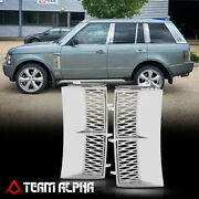 Chrome/silver Autobiography Style Side Fender Vent Grille Fits 03-12 Range Rover