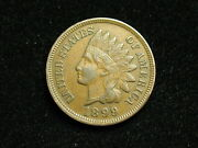 Must Go Sale Au 1899 Indian Head Cent Penny W/ Full Liberty And Diamonds 145i