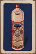 Playing Cards Single Card Old Orbec Genever Gin Alcohol Advertising Art Bottle 2