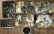 Massive Vintage And Antique Sewing Buttons Lot Victorian Bakelite Celluloid