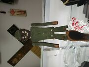 Antique Hand Carved Wooden Jointed Figure Black Man Folk Art Toy Puppet