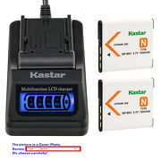 Kastar Battery Lcd Quick Charger For Sony Np-bn1 Npbn1 Sony Cyber-shot Dsc-w690