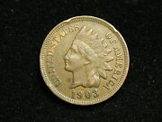 Blow Out Sale Xf 1903 Indian Head Cent Penny W/ Diamonds And Full Liberty 173i
