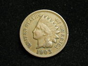Blow Out Sale Xf 1903 Indian Head Cent Penny W/ Diamonds And Full Liberty 171i