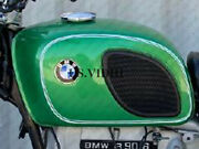 New Bmw R90/6l R60/6 R75/6 Large Curry Green And White Pin Line Petrol Fuel Tank