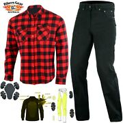 Australian Bikers Gear Motorcycle Trouser And Shiirt Lined With Kevlarandreg Fiber