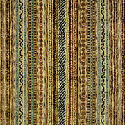 Clarence House Montague Belgium Woven Velvet Fabric 5 Yards Brown Blue Multi