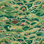 Schumacher Whimsical Animals On Country Rolling Hills Fabric 10 Yards Green Mult