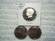 1981 P D S Kennedy Half Dollar Uncirculated And Proof  Lot Of 5 Coins Nice Coins