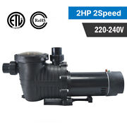 2hp 230v 2-speed In/above Ground Swimming Pool Pump Strainer Energy Saving Us