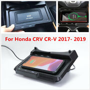 For Honda Crv Cr-v 17-19 10w Car Qi Wireless Phone Charger Mobile Charging Plate