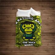 A Bathing Ape Bape Baby Milo Marvel The Hulk Blanket