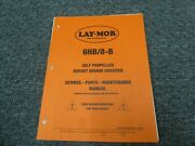 Laymor 6hb And 8b Rotary Broom Sweeper Parts Catalog And Service Maintenance Manual