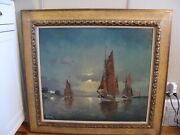 Franz Ambrasath 1889-1974 Original Oil Painting On Canvas Listed Amer/german