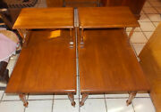 Pair Of Mid Century Step End Tables / Side Tables By Mersman T924