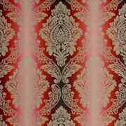 Lee Jofa Kravet Ombre Lotus Medallions Woven Damask Fabric 10 Yards Cardinal Red