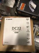 New Canon Dc22 2.2mp Dvd Camcorder With 10x Optical Zoom