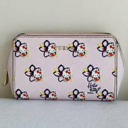 Furla Hello Kitty Limited Edition Pouch Collaboration Light Pink Zipper Red Jp
