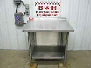 American Delphi 36 X 32 Stainless Heavy Duty Kitchen Work Table Cabinet 3'