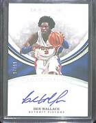 2016-17 Panini Immaculate Heralded Signatures Autograph Hs-bwa Ben Wallace