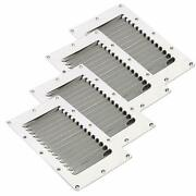 4 Pack Stainless Steel Louvered Vent Boat Yacht Air Vent - Rectangular 5 X 9