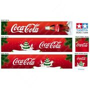 Tamiya 14th Scale 56302 Trailer Roof Coca-cola Christmas Decals Stickers Set