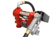 Fill-rite 115 Volt Ac Pump With Hose And Manual Nozzle 15 Gpm 1/6 Hp Motor