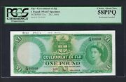 Fiji One Pound 29-11-1964 P53s Specimen About Uncirculated