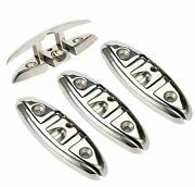 4 Pack 6and039and039 Boat Flip Up Folding Dock Cleat 316 Marine Stainless Steel Us Ship