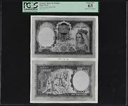 Portugal Face And Back 1000 Escudos 28-4-1960 Photograph Proof Uncirculated