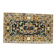 52 X 32 Marble Dining Table Top Pietra Dura Floral Art Inlay Work Home Decor
