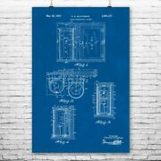 Protective Vault Poster Print Security Decor Locksmith Gift Fallout Shelter