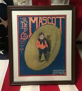 Vintage 1915 The Mascot Football Song Sheet Music Antique Snubnose Ball Cover