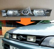 For Toyota Corolla 100 Grill With Fog Lights 1991-1994 Ae100 Silver Gray