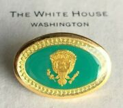 Ronald Reagan -authentic Presidential Guest Hard Pin And Paper- White House-issue