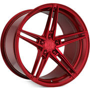 """20"""" Rohana Rfx15 Gloss Red Concave Wheels Rims For Audi A5 S5 A7 S7 A8 S8 20x10"""