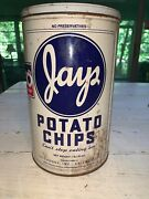 Vintage 1986 Jays Potato Chip Can Marked Limited Edition 1 Lb Tin Chicago