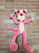 Vintage 1980 Wire Bendable Pink Panther Plush Stuffed Animal Mighty Star 25