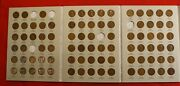 Lincoln Cent Harris Folder 1909-1940 Book 84 Coins 5 Missing Nice Circulated Lw1