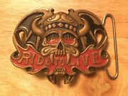 Ride To Live Belt Buckle Solid Brass Vintage 1982's Baron Buckles